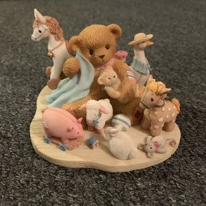 "Cherished Teddies ""Boy With Blanket And Toys"""